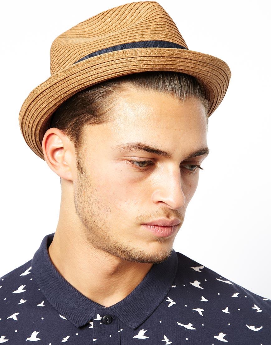 e9ad7719d Esprit Black Straw Porkpie Hat for men