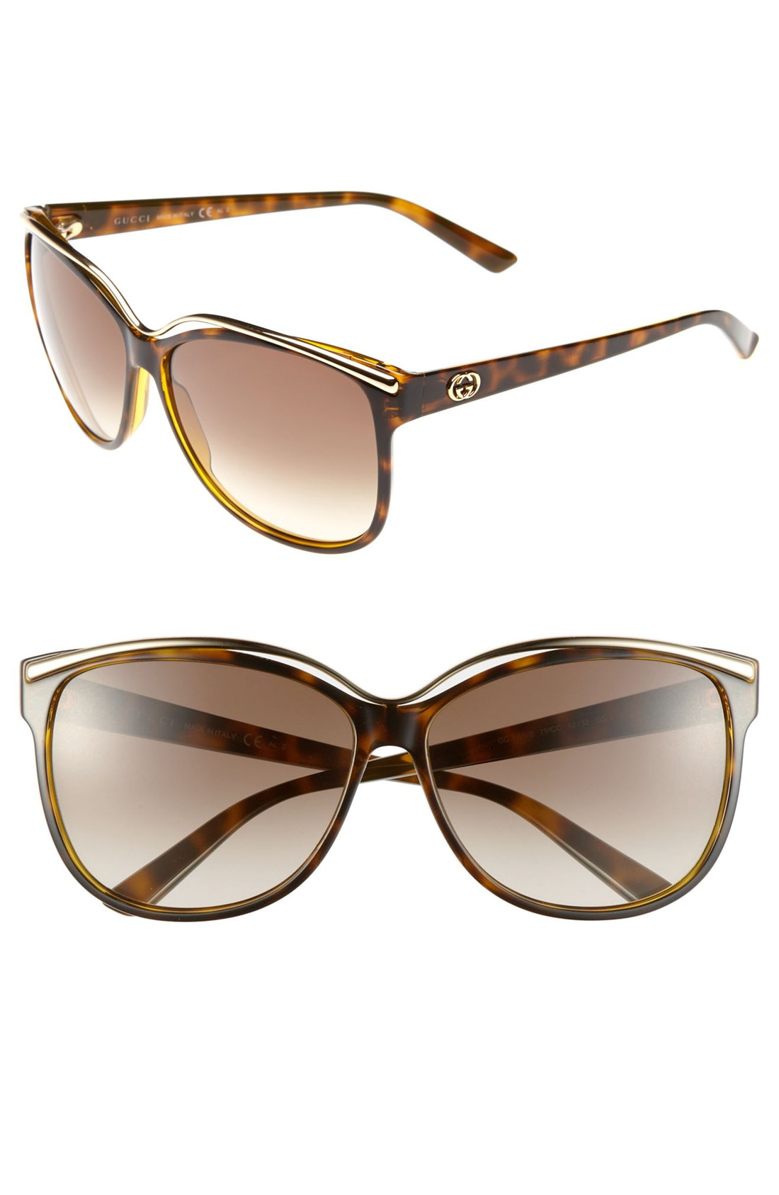 a021a6657d5 Gucci Havana Sunglasses Cat Eye