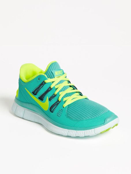 nike free 50 running shoe in blue turquoise lyst