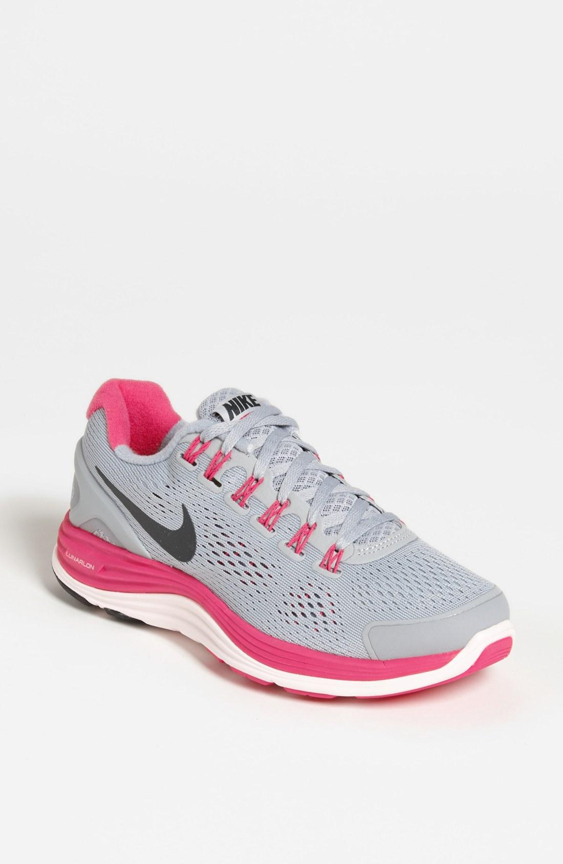 new arrivals 4f71f 4956d Nike Lunarglide 4 Women Gray Peachblow