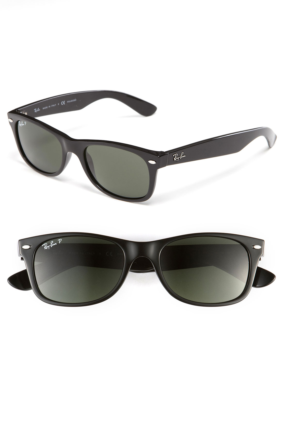 ray ban 39 new small wayfarer 39 52mm polarized sunglasses in black black polarized lyst. Black Bedroom Furniture Sets. Home Design Ideas