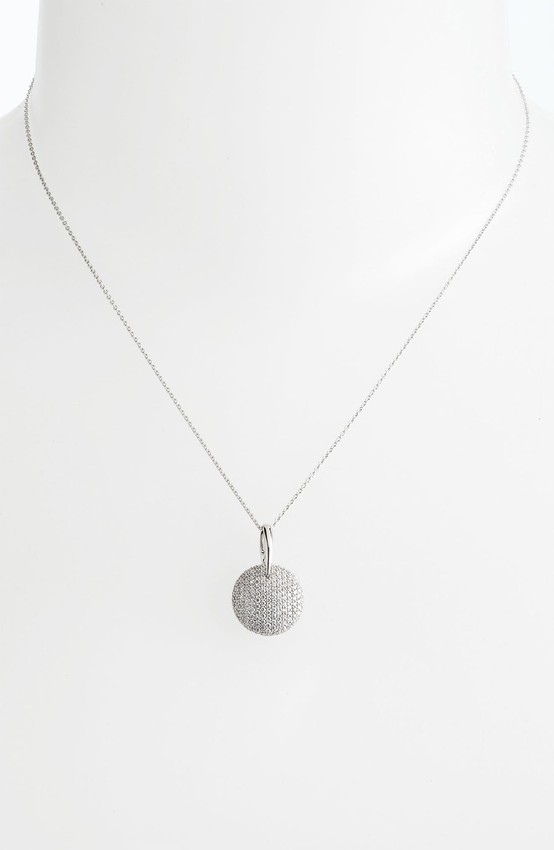 Lyst roberto coin tiny treasures round pav diamond pendant gallery aloadofball Image collections