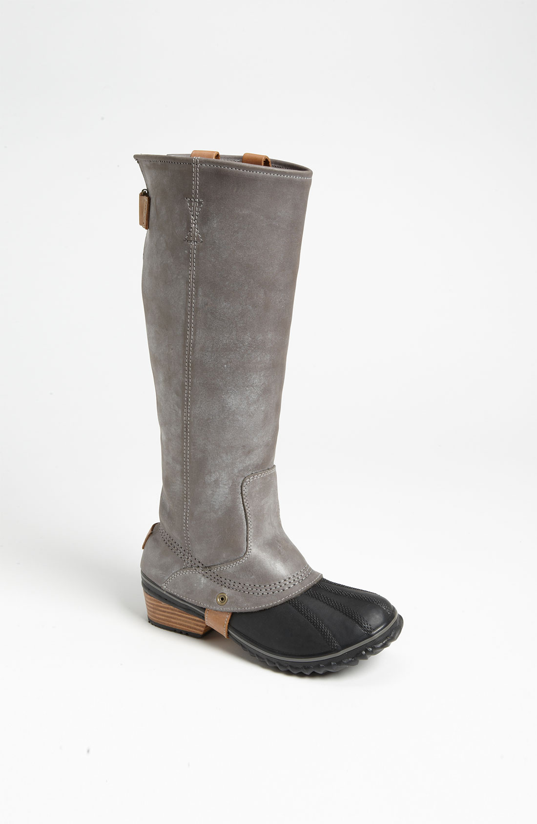 Sorel Slimpack Riding Boot In Gray Charcoal Lyst
