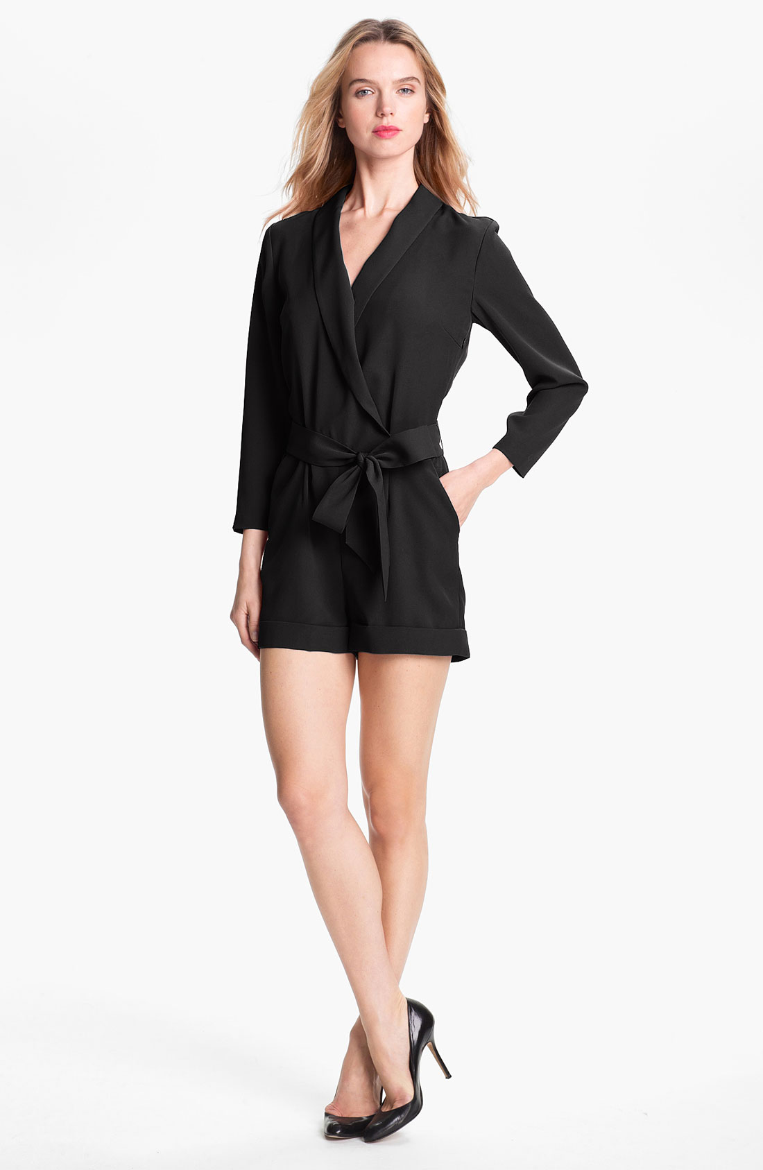 9f73cc9a7b2b Lyst - Ted baker Faux Wrap Jumpsuit Online Exclusive in Black