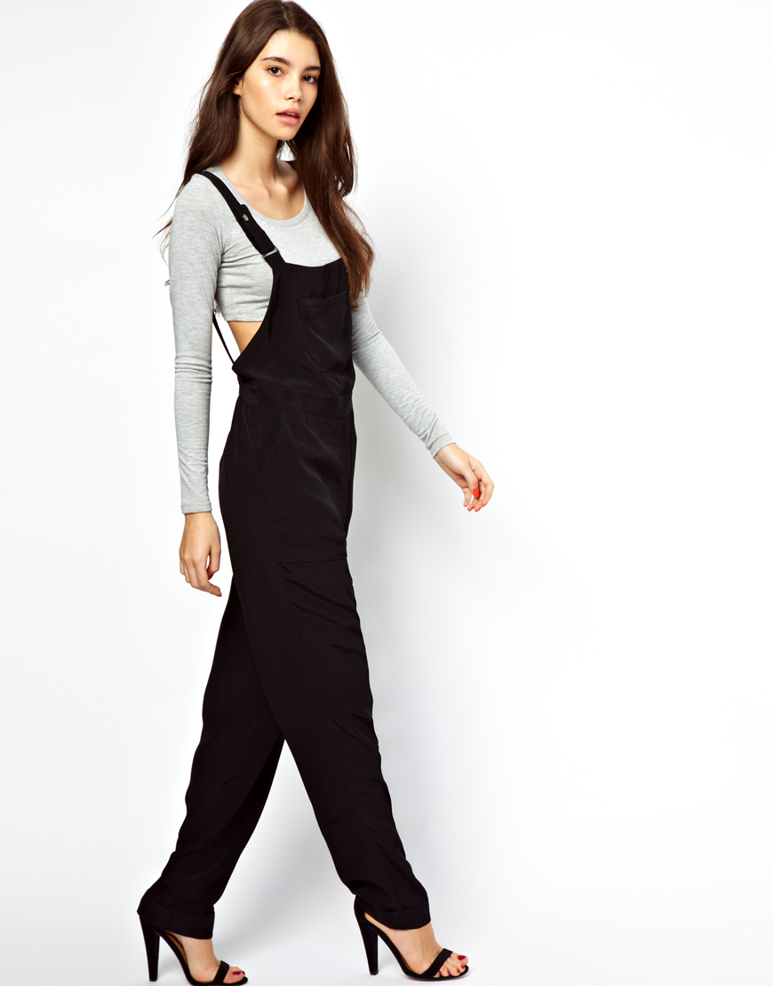 Junk Food Overalls Jumpsuit In Black Lyst