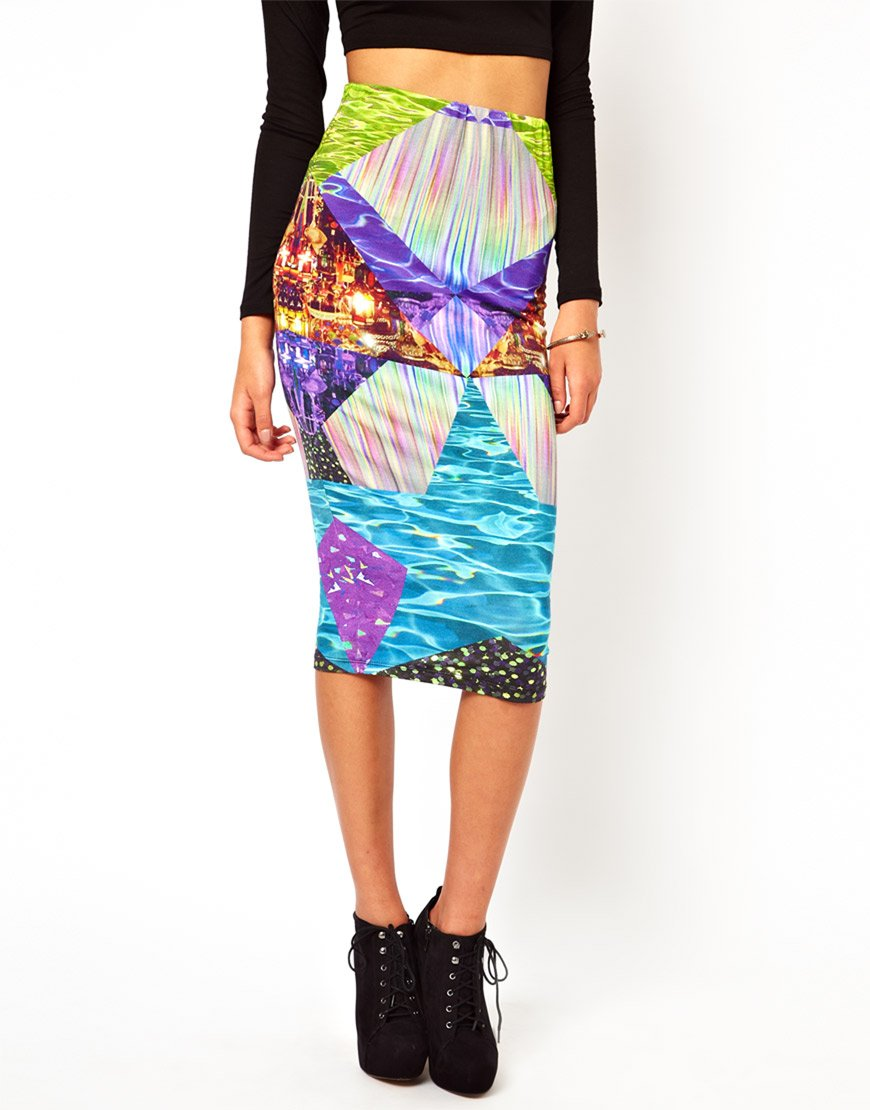 Multi Coloured Pencil Skirt | Jill Dress