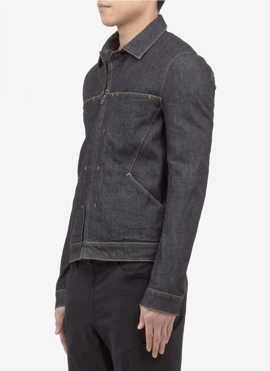 Lyst Attachment Zip Up Front Denim Jacket In Blue For Men
