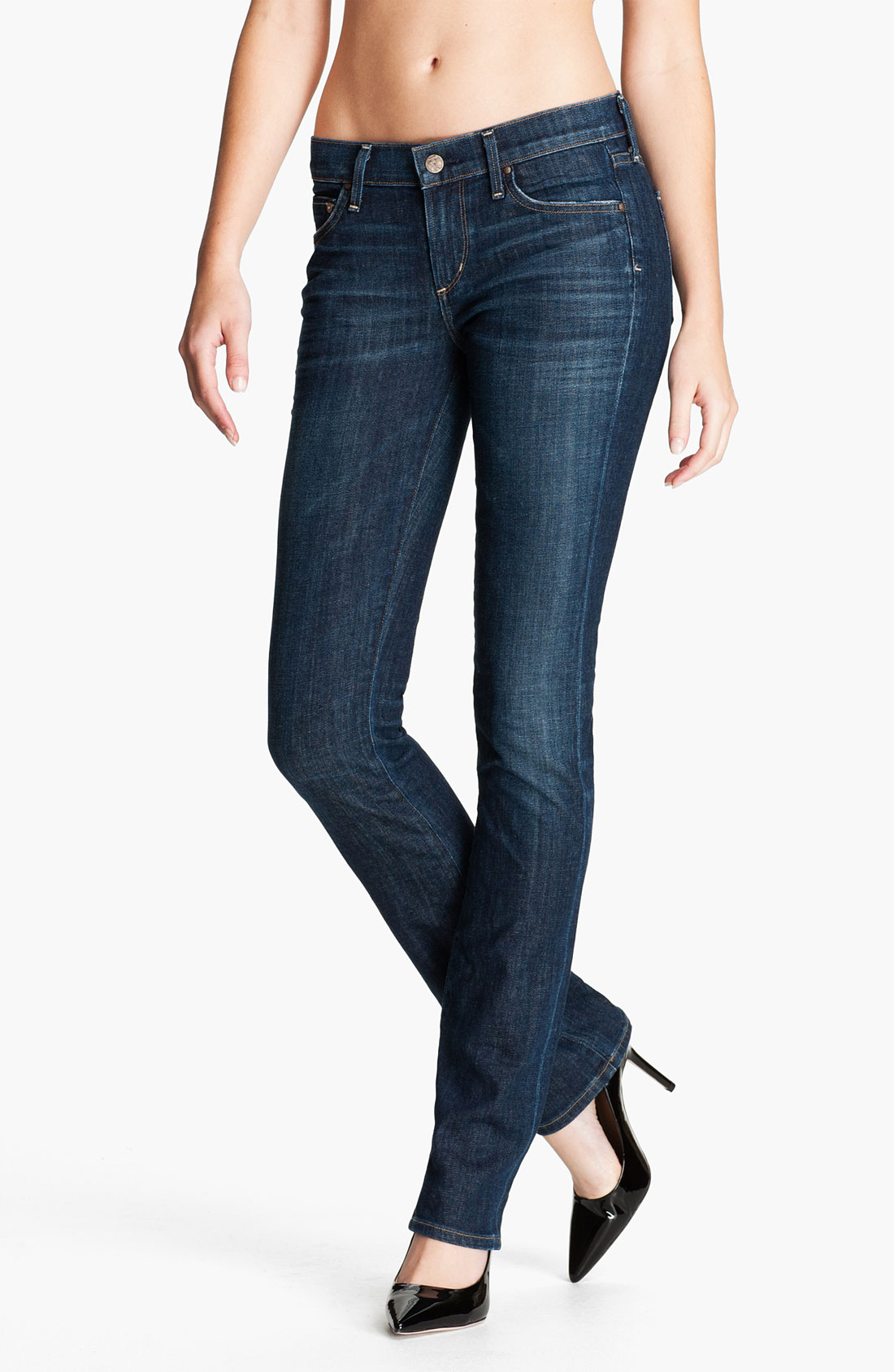 citizens of humanity ava straight leg stretch jeans in blue galaxy lyst. Black Bedroom Furniture Sets. Home Design Ideas