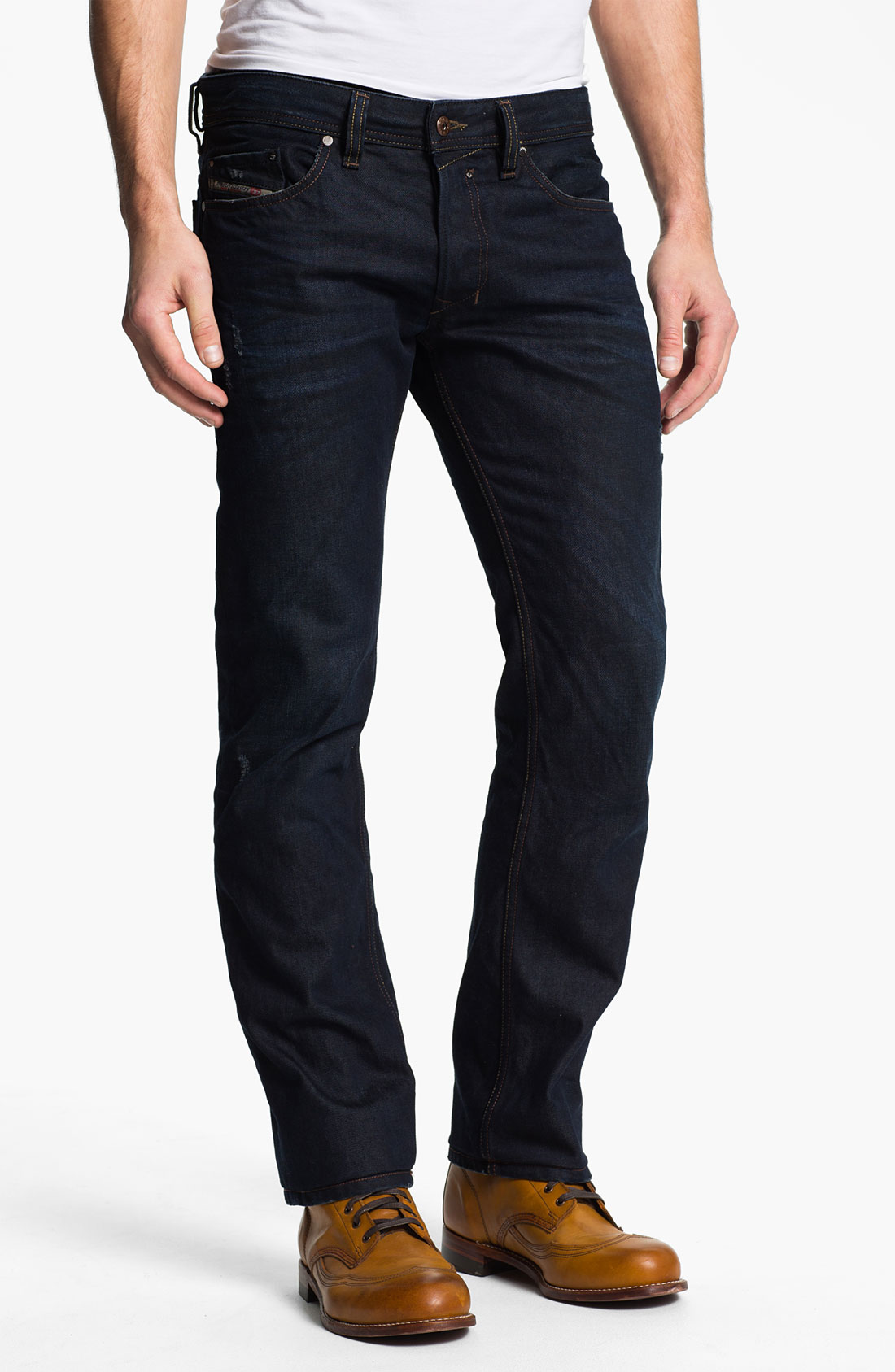 lyst diesel safado straight leg jeans in black for men. Black Bedroom Furniture Sets. Home Design Ideas