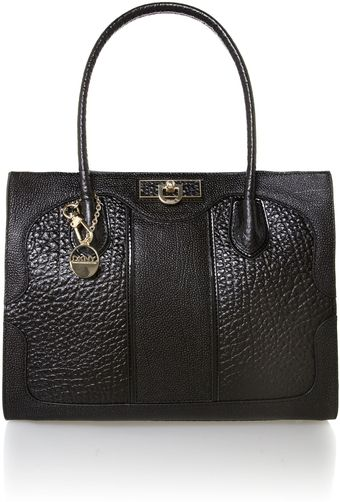DKNY French Grain Black Shoulder Bag - Lyst