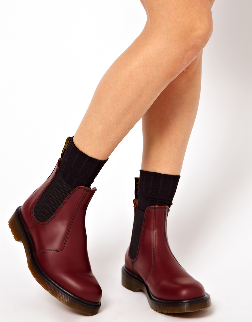 dr martens classics burgundy chelsea boots in purple lyst. Black Bedroom Furniture Sets. Home Design Ideas
