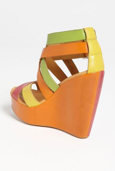 Kork Ease Korkease Hailey Wedge Sandal In Multicolor