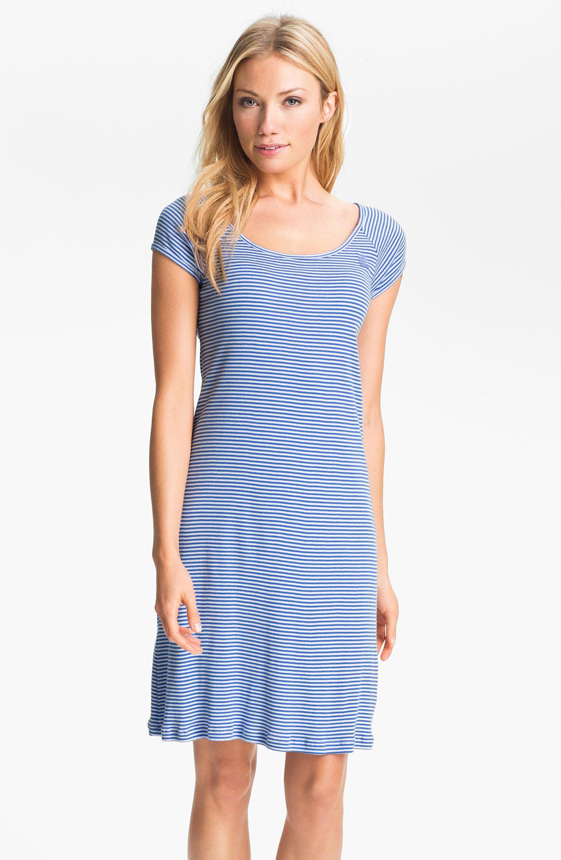 Lauren by ralph lauren sleepwear stripe sleep shirt in for Robe chemise ralph lauren