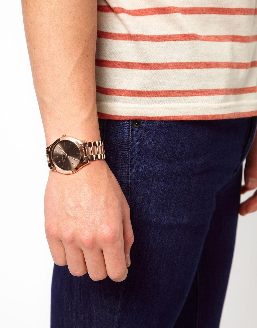 97da6dbf5951 Lyst - Michael Kors Slim Runway Watch in Metallic for Men