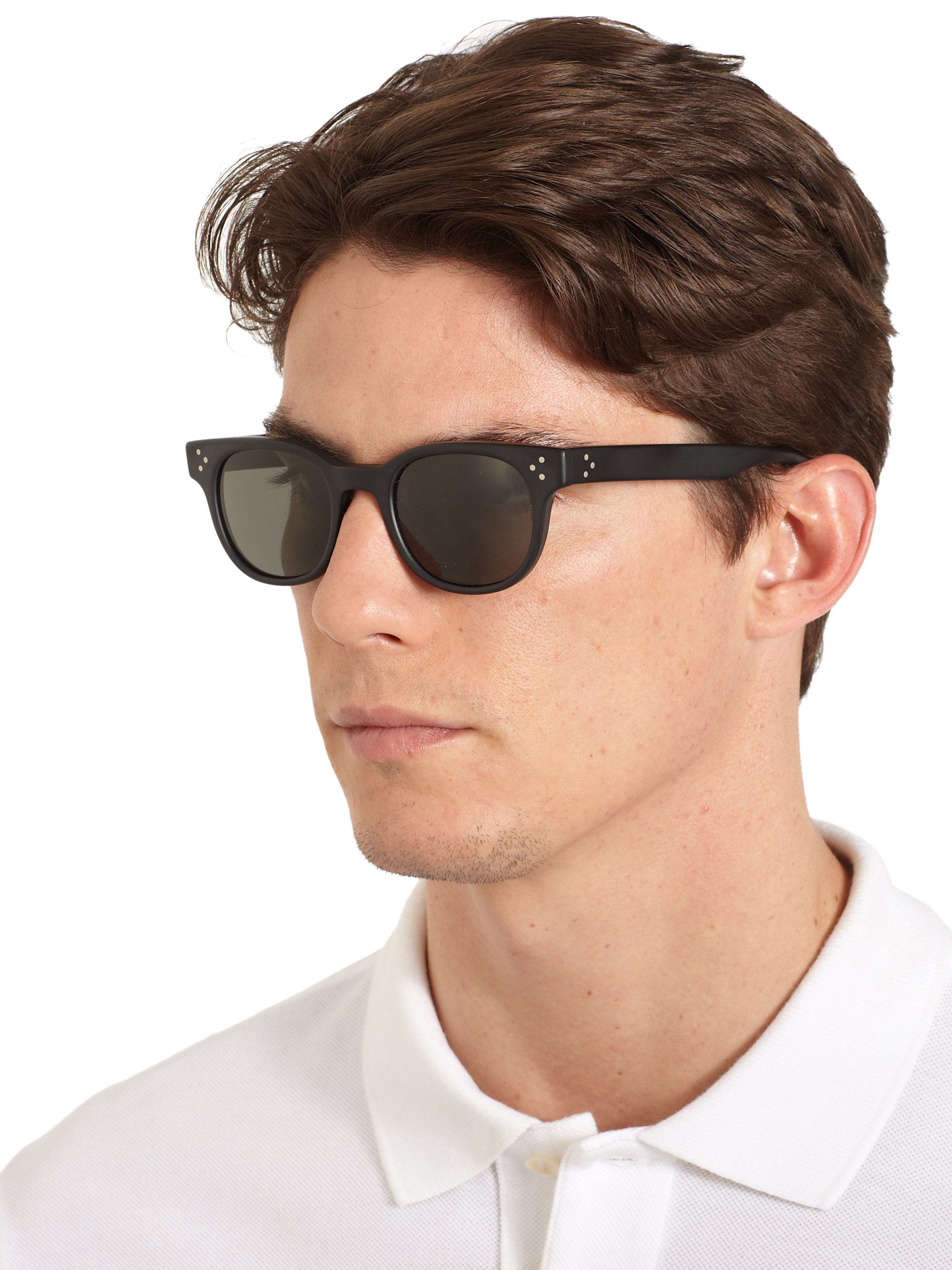 Lyst Oliver Peoples Afton Round Acetate Sunglasses In