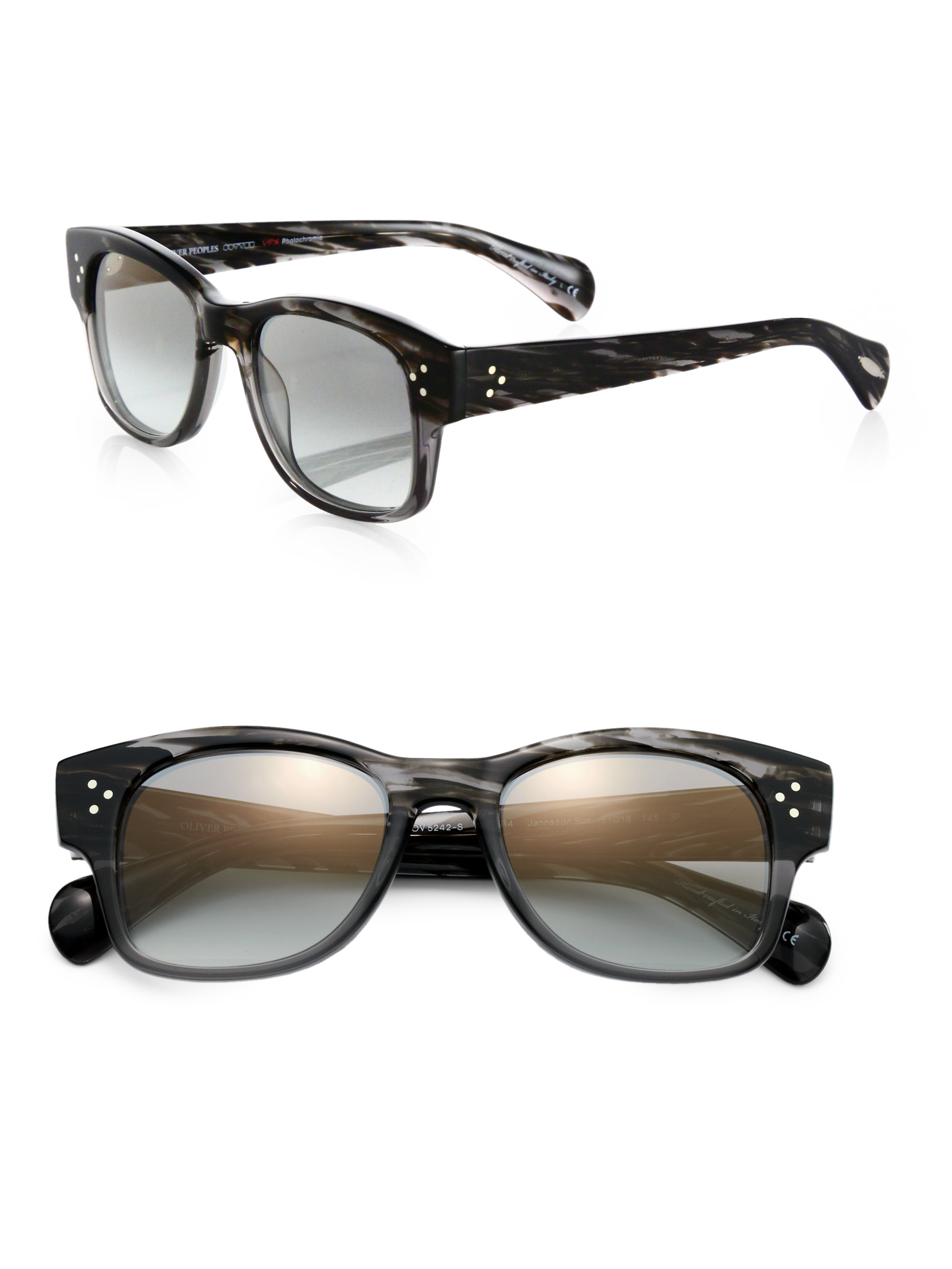 oliver peoples jannsson acetate sunglasses in black lyst