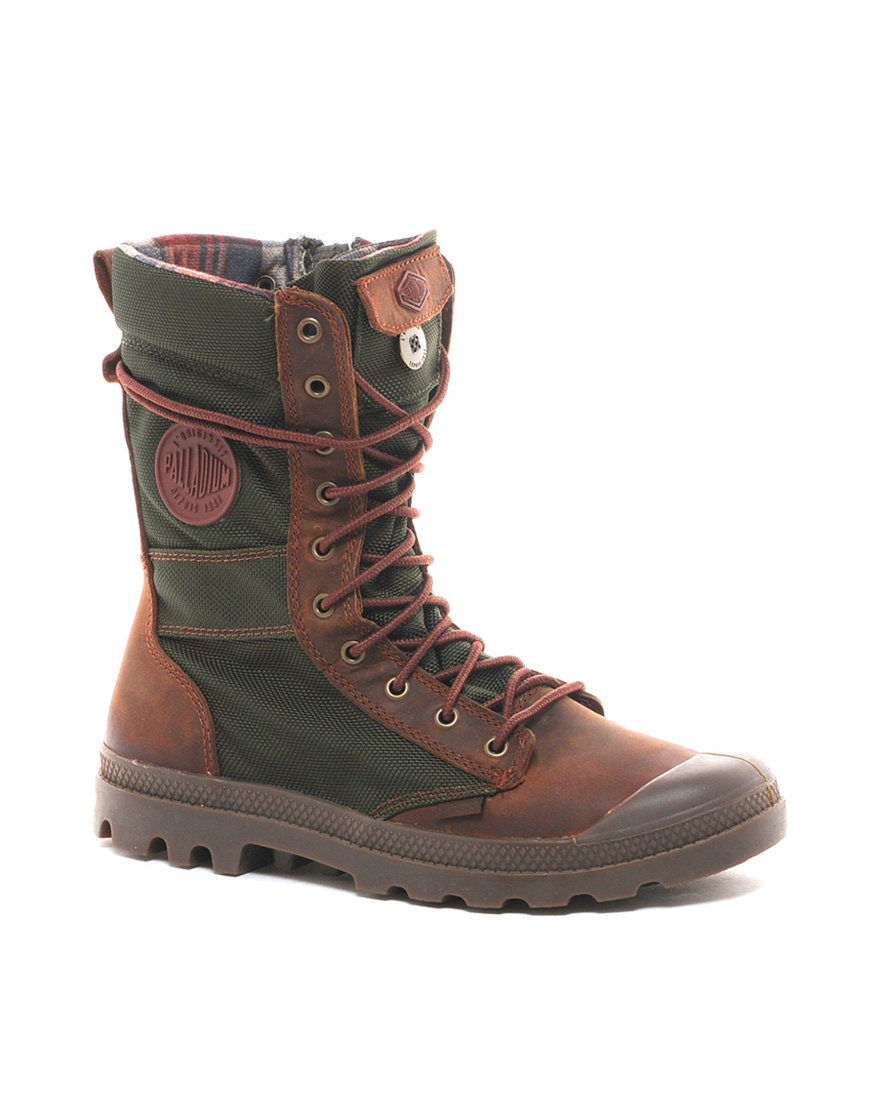 Palladium Tactical Boots in Brown
