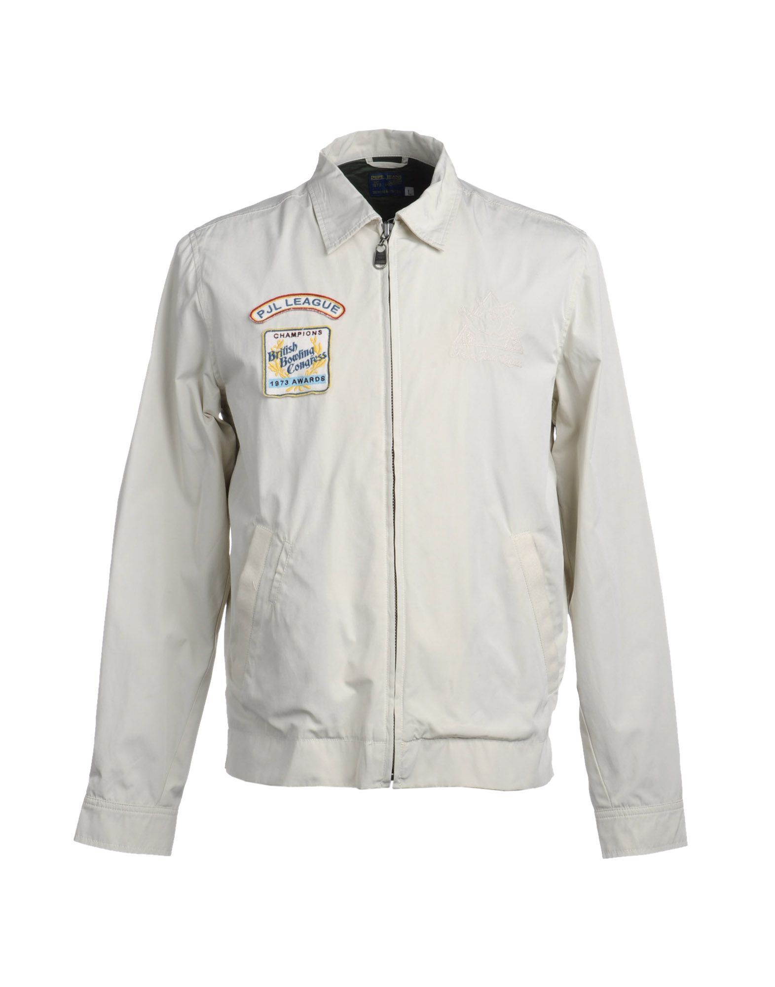 pepe jeans jackets in white for men ivory lyst. Black Bedroom Furniture Sets. Home Design Ideas