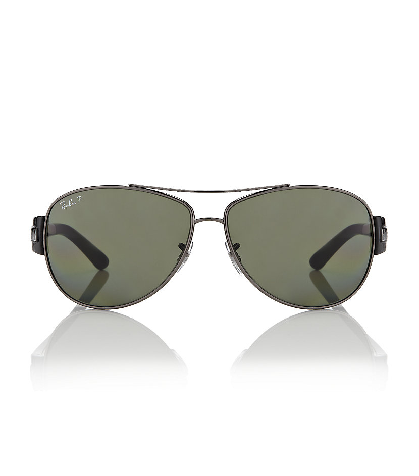 Ray-ban Aviator Sunglasses in Black for Men | Lyst