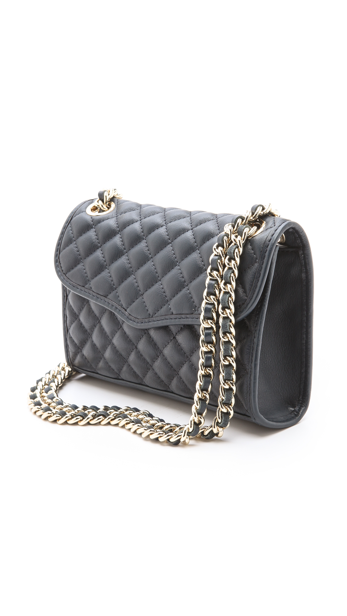 Rebecca Minkoff Quilted Mini Affair Bag In Blue Black Lyst