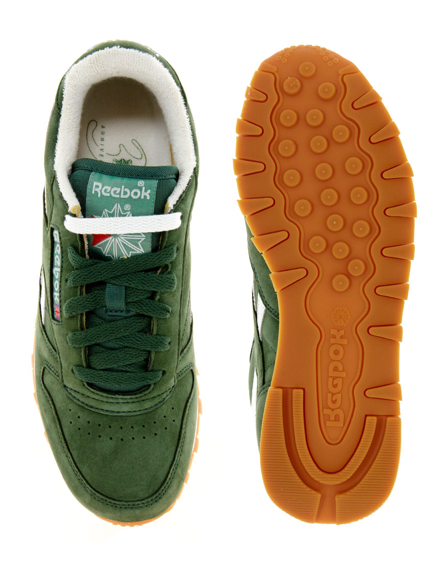 f3f4cae7fa937 Lyst - Reebok Classic Vintage Green Trainers in Green for Men