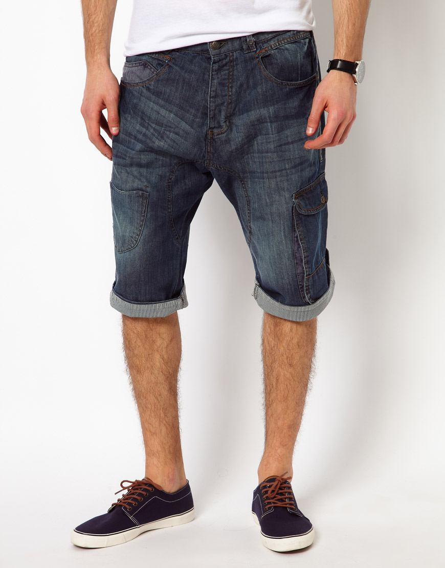 Pepe jeans Ringspun Shorts Long Denim in Blue for Men | Lyst