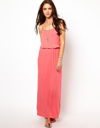 River Island Waisted Maxi Dress - Lyst