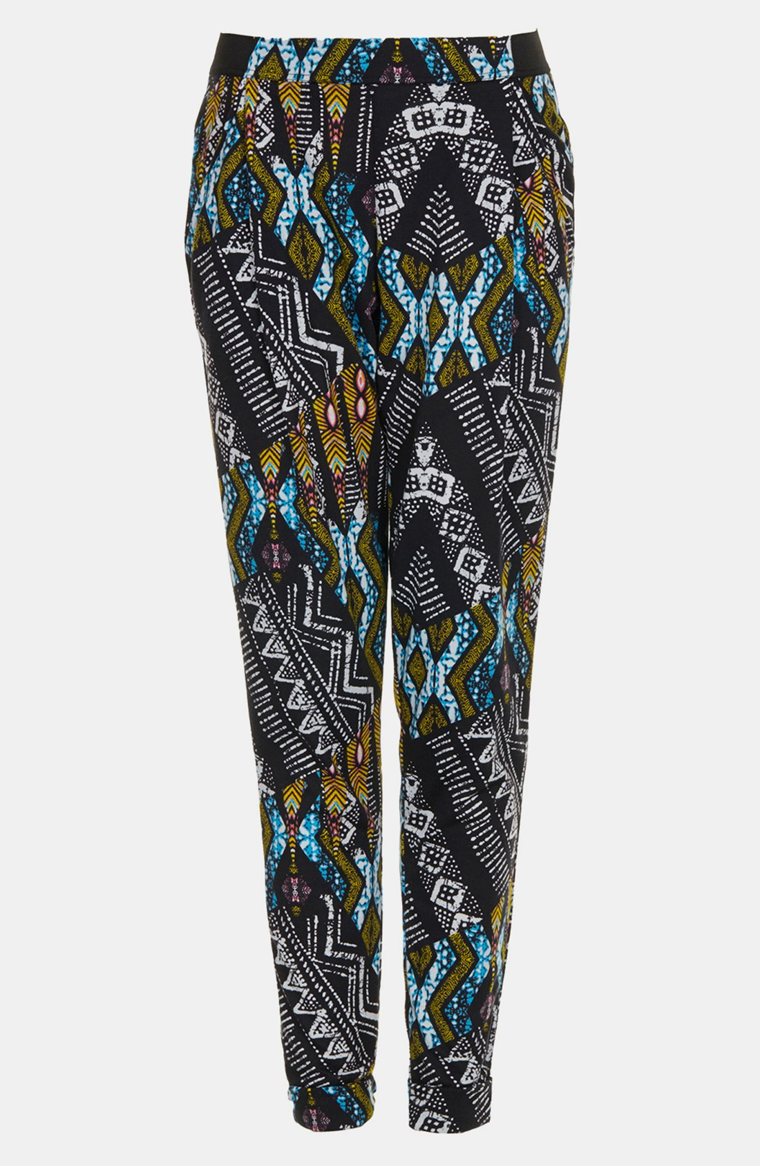 Topshop African Print Tapered Pants in Multicolor (black ...
