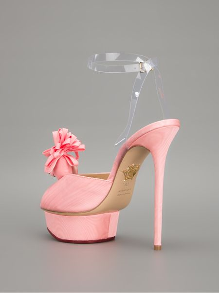 charlotte olympia poodle sandal in pink lyst. Black Bedroom Furniture Sets. Home Design Ideas