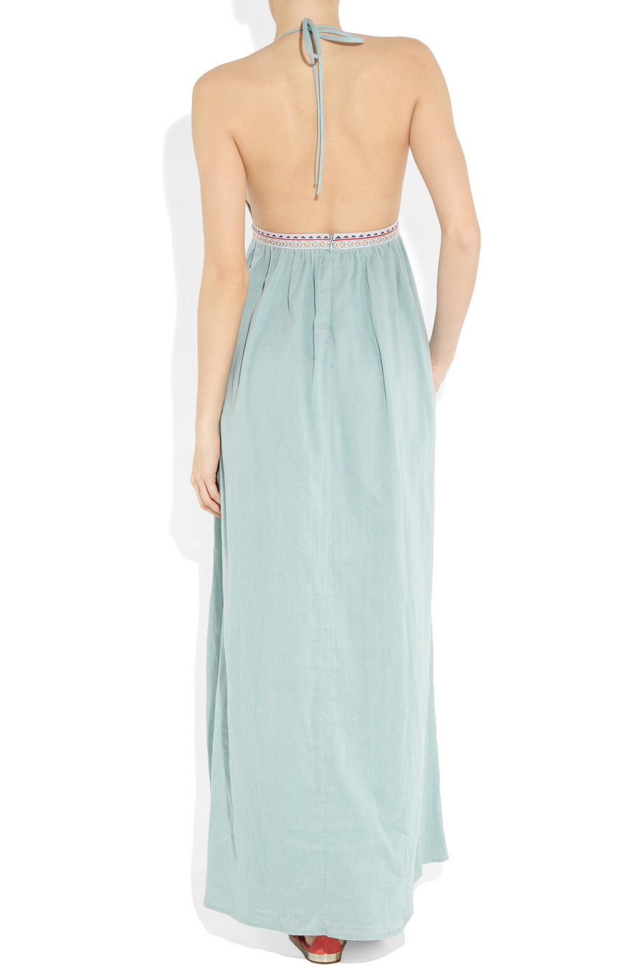 Mara hoffman embroidered voile maxi dress
