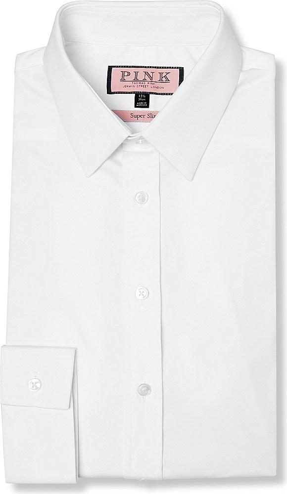 Lyst thomas pink freddie super slim fit single cuff for Super slim dress shirts