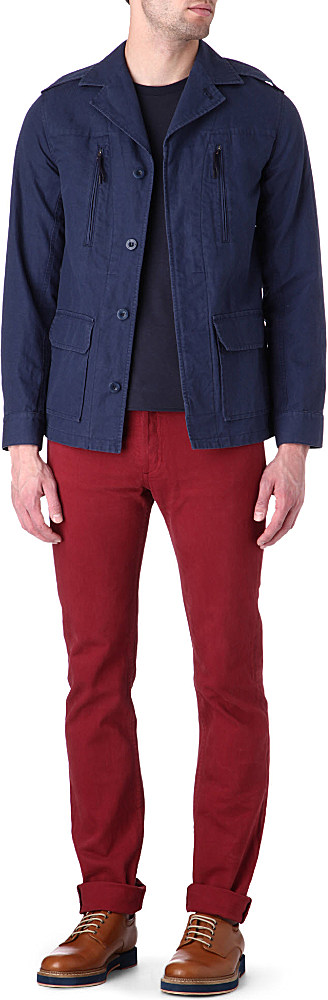 A.P.C. Overdyed Petit Standard Slim Fit Jeans in Bordeaux (Red) for Men