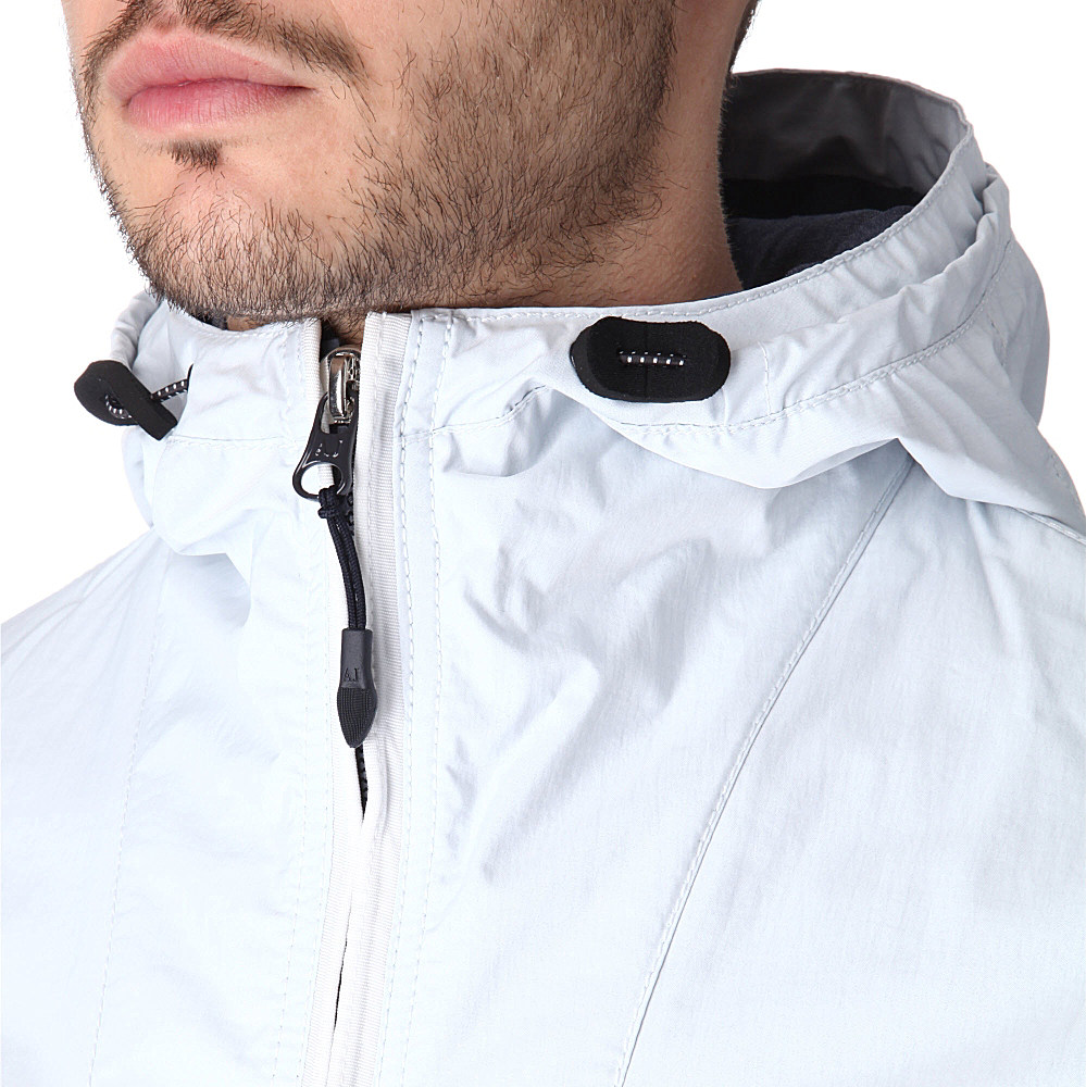 Armani jeans Windbreaker Jacket in White for Men | Lyst
