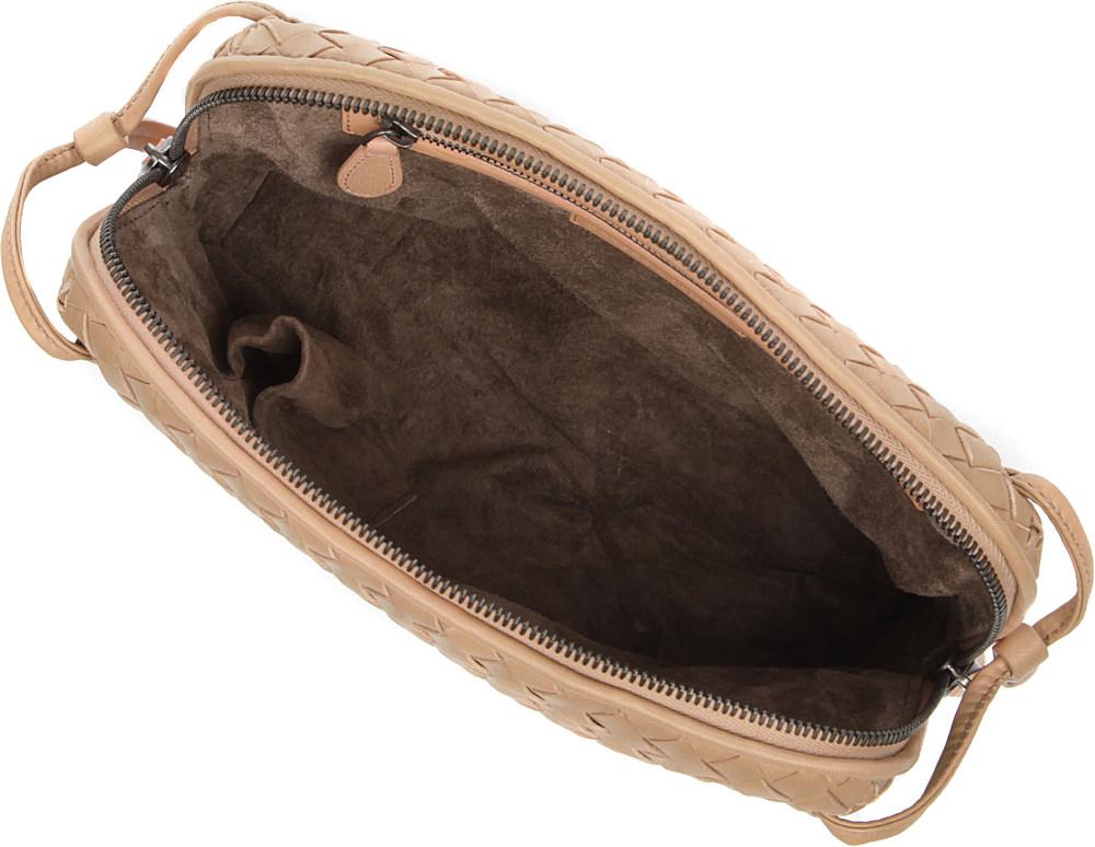 Bottega Veneta Cubo Small Intrecciato Crossbody Bag in Natural - Lyst 2021567214d94