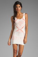 Medallion Slip Dress in White