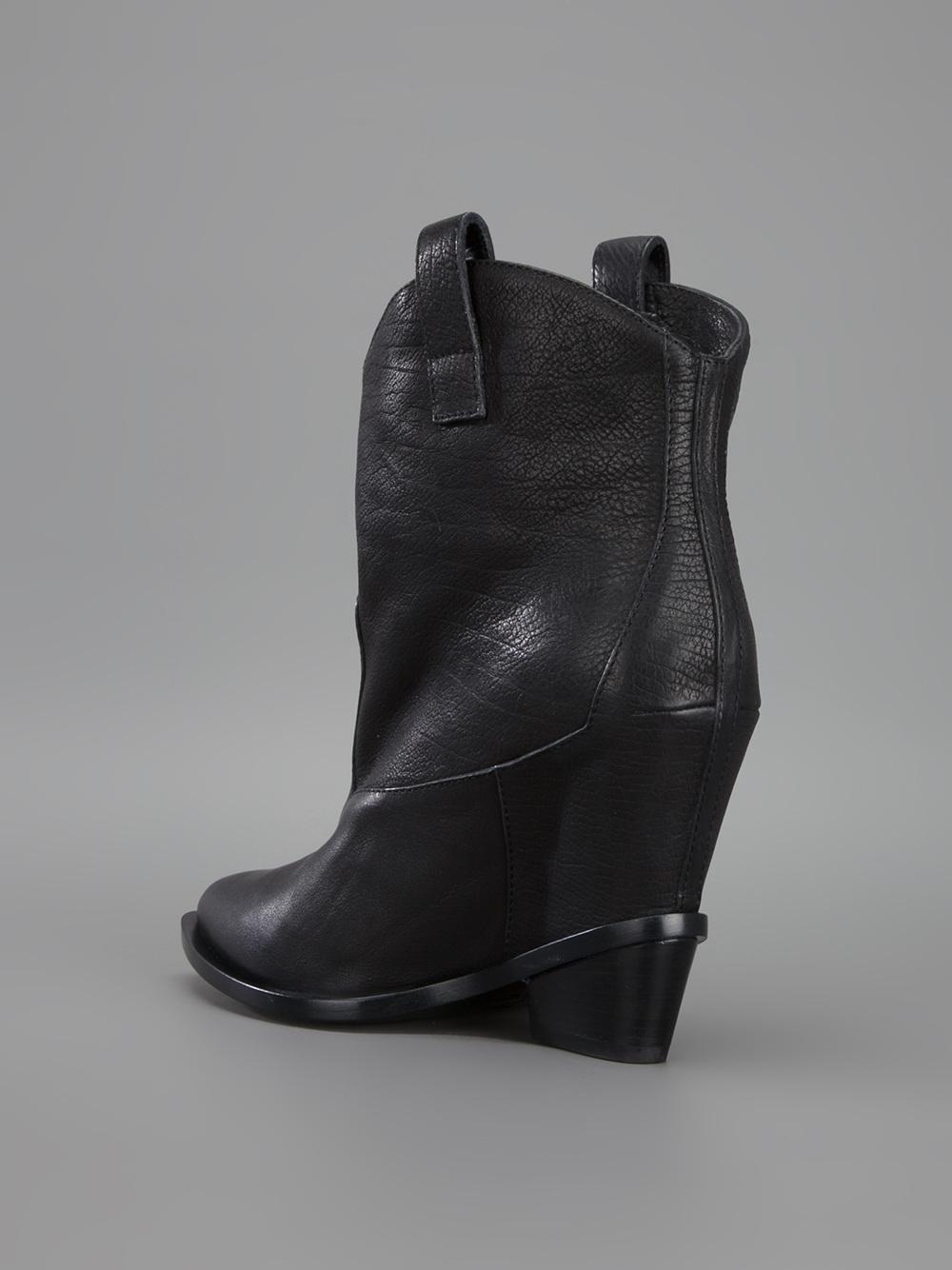lyst giuseppe zanotti star cowboy boot in black
