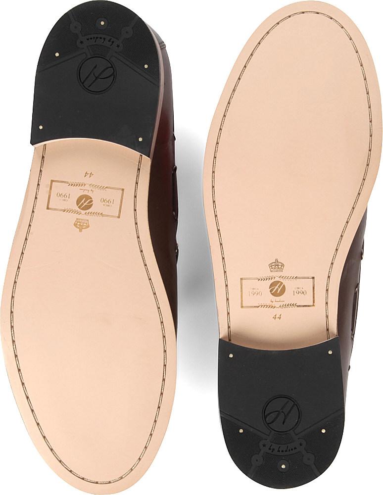 H by Hudson Tyska Tassel Loafers in Black for Men