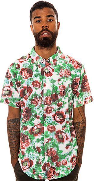 Insight The Grateful Dead Ss Buttondown Shirt in Cloud in
