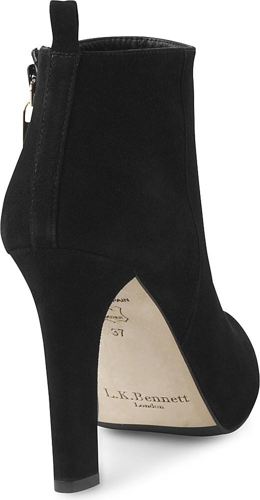 L.K.Bennett Fara Leather Boots in Black