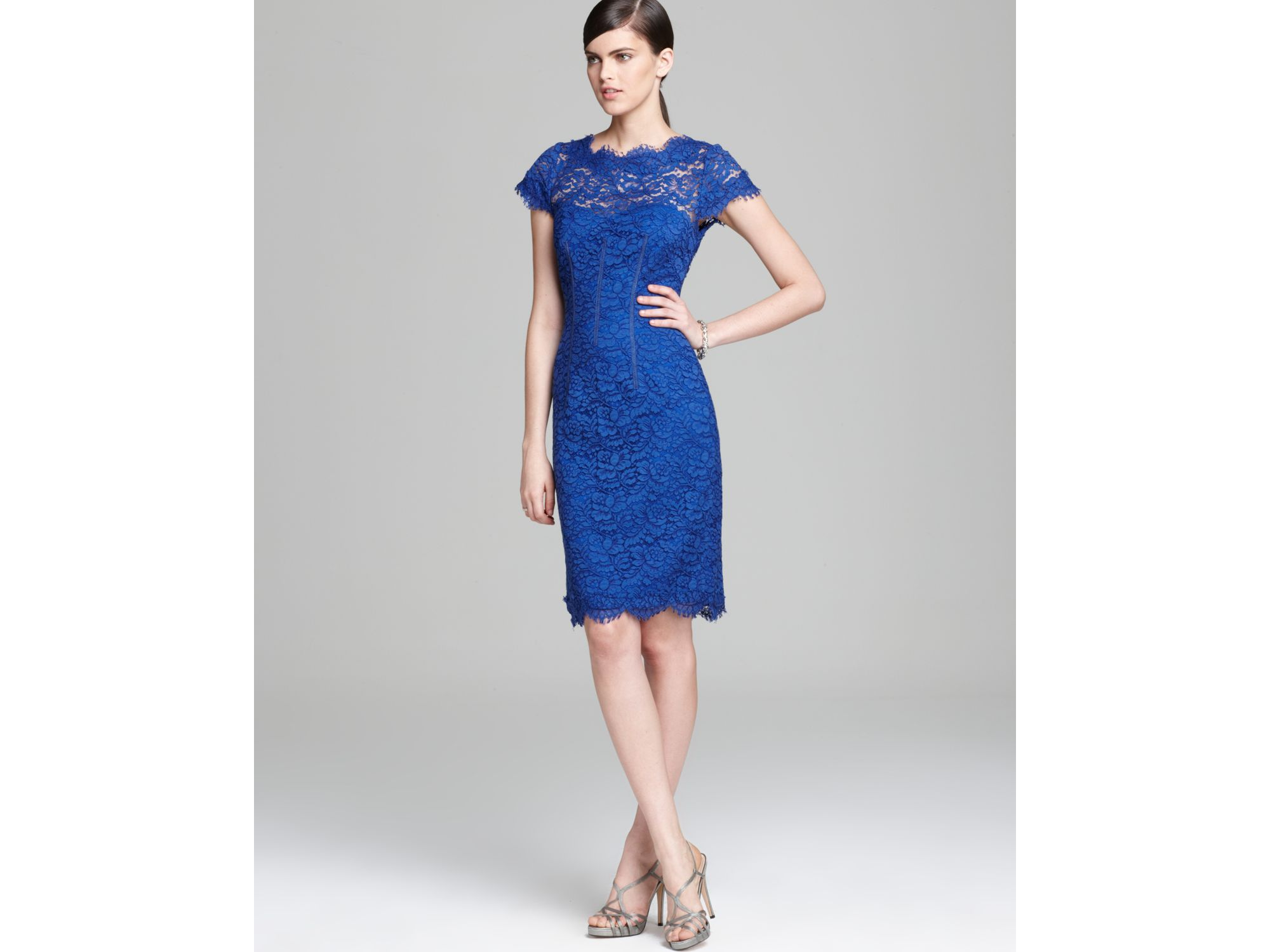 Lace Dress Cap Sleeve Sheath