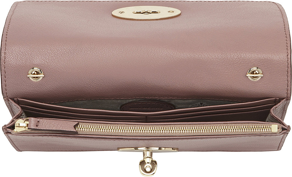 8fe9a3185e ... new arrivals mulberry bayswater glossy goat leather clutch wallet in  pink lyst 0b551 e7992 ...