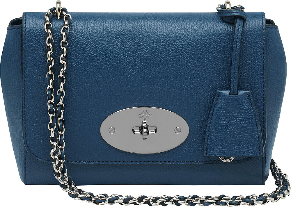 67766f389f25 ... cheap mulberry lily grainyprint shoulder bag in blue lyst dd401 2cc9d