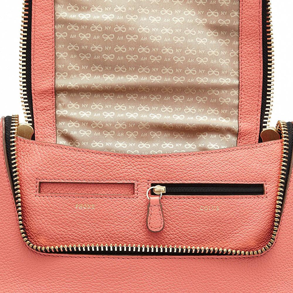 Anya Hindmarch Maxi Zip Cross Body Bag in Coral (Orange)