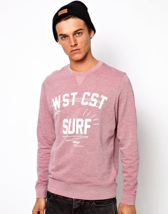 Asos Sweatshirt with Coast Print - Lyst