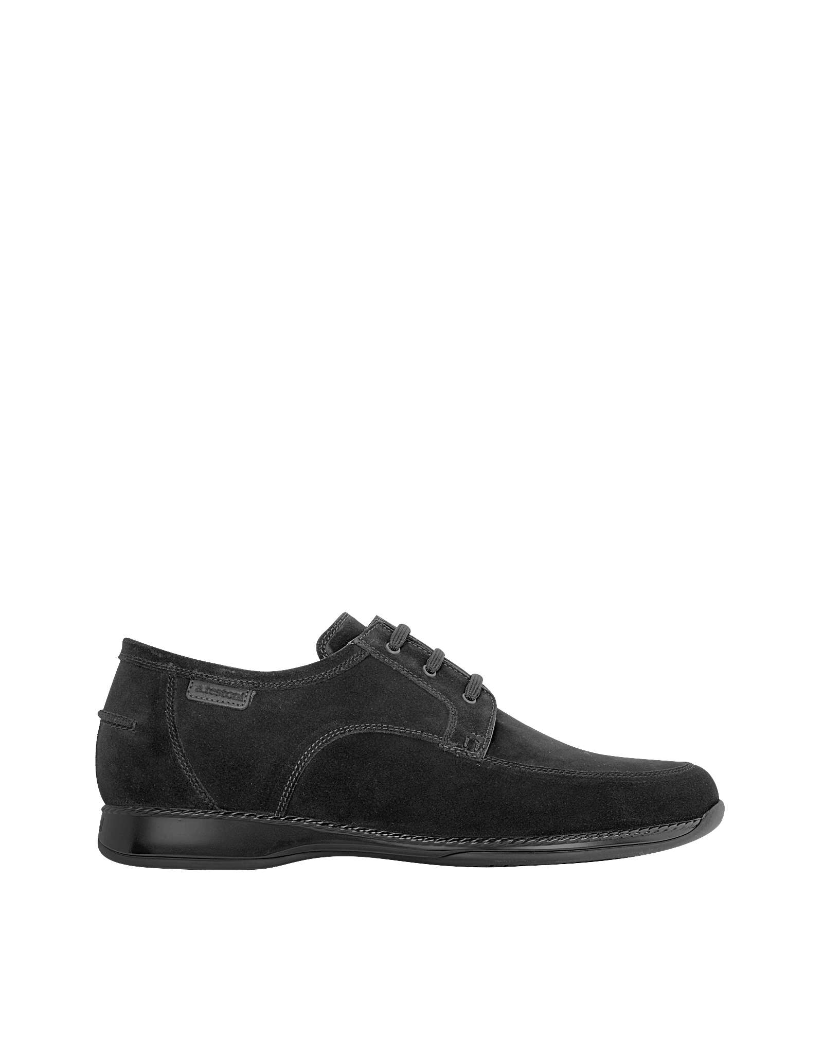 a testoni black suede lace up shoes in black for lyst