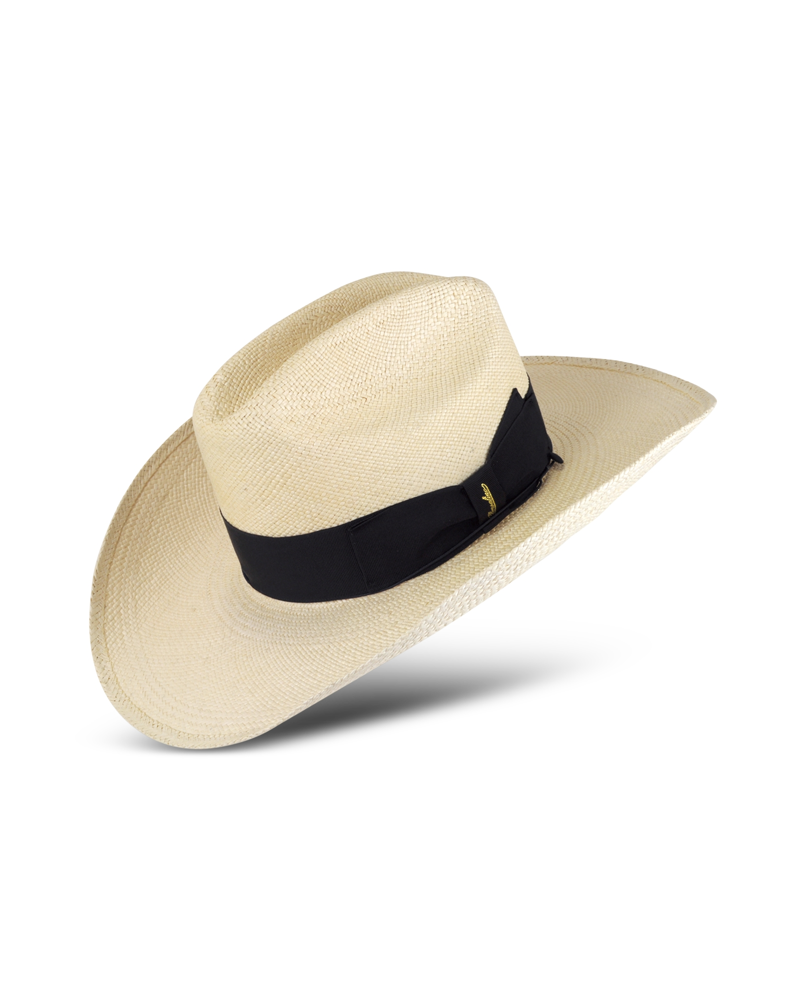 32ee1ebe17663 Borsalino Panama Cowboy Hat With Black Band in White for Men - Lyst