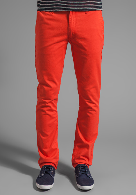 Model Free People Pants  FREE PEOPLE  Burnt Orange Corduroy Skinny Pants