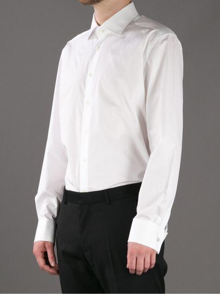 Corneliani French Cuff Shirt In White For Men Lyst
