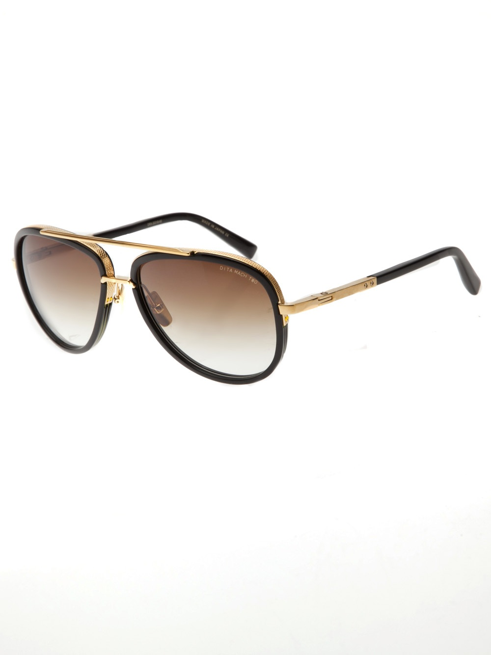 dita mach two sunglasses in gold for lyst