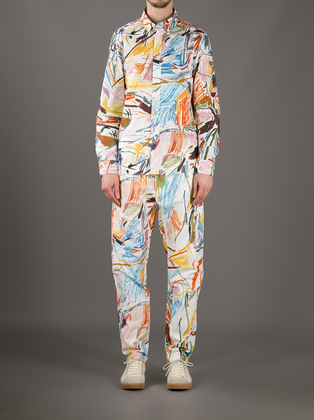 Etudes Studio Robin Cameron Artwork Trouser for Men